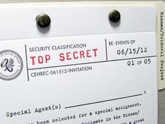 Top Secret Spy Wedding Invitation