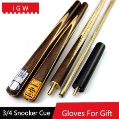 74.78$  Buy here - http://ali0sk.worldwells.pw/go.php?t=32611597817 - 2016 iGW 3/4 Snooker Cues 9.5 mm With Extension 15cm Snooker Cue Brands Stick China Tacos De Billar