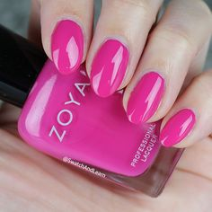 Think pink with #ZoyaKelsey from the #ZoyaPartyGirls Collection! (See collection swatches on SwatchAndLearn.com.) #zoya #EverydayZoya #SwatchAndLearn #NailPolish #Pink