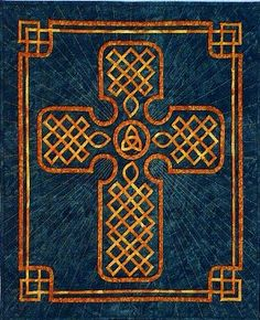 The Celtic Cross pattern by Mary Lou Hallenbeck, designer of Quilted Letters.