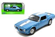 1972 Pontiac Firebird Trans AM Blue  1/24 Scale Diecast Car Model By Welly 24075