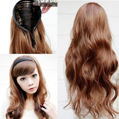 8 colors available half wig for women hair wigs synthetic material black headband wig wavy style 70cm long 130g/pc good quality - http://jadeshair.com/8-colors-available-half-wig-for-women-hair-wigs-synthetic-material-black-headband-wig-wavy-style-70cm-long-130gpc-good-quality/  Wigs
