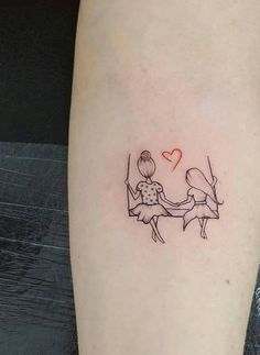 Small Tattoo Models Tattoo On The Swing Girl Figured Arm Tattoos Tattoo Mama, Mommy Tattoos, Mother Tattoos, Sister Tattoos, Friend Tattoos, Mum Tattoo, Mini Tattoos, Body Art Tattoos, Small Tattoos