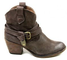 WOMENS ROCKET DOG SATIRE BROWN CASUAL FASHION COWBOY WESTERN ANKLE BOOTS SIZE 6 | eBay