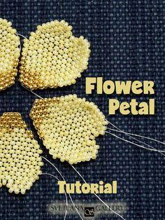 Beaded Flowers Patterns, Beading Patterns Free, Beaded Jewelry Patterns, Peyote Patterns, Bead Patterns, Bead Embroidery Patterns, Beaded Embroidery, Stitch Patterns, Free Pattern