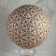 home decor Japanese temari Grandmother Stars 122 by Barbara B. Suess