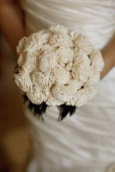 Milky balsa wood flower bouquet. I wonder if these are in season in October?