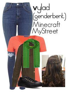 """Vylad (Genderbent) | Minecraft MyStreet"" by skylarjackson123 ❤ liked on Polyvore featuring Topshop, HUGO, Yves Saint Laurent, Hermès and Converse"