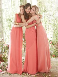 These stunning Occasions by Jim Hjelm dresses have a melon rose shade of colour and are perfect if you're looking for an feminine bridesmaid dress. Product codes JH5401, JH5402 and JH5411.  View more Bridesmaid dresses from our JLM Couture Occasions by Jim Hjelm collection at: http://www.baroqueboutique.co.uk/bridesmaids/  Photographs courtesy of: http://www.jlmcouture.com/Jim-Hjelm-Occasions/