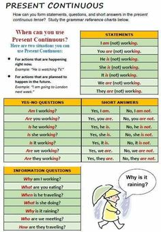 The present continuous verb tense indicates that an action or condition is happening now, frequently, and may continue into the future. English Grammar Notes, English Speaking Skills, Learning English For Kids, Teaching English Grammar, English Grammar Worksheets, Grammar And Vocabulary, English Language Learning, English Lessons, English Vocabulary