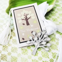 Silver Tree Bookmark Favors from Wedding Favors Unlimited #FavorsUnlimitedFallinLove