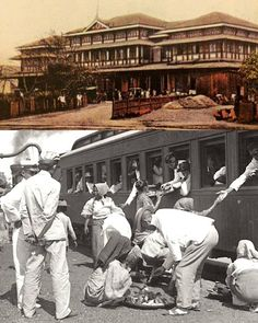 Tutuban Railway Station, the train waiting passengers going to Dagupan, and the people buy the food to a street vendors. Philippine Architecture, Martial Arts Weapons, Philippines Culture, Colorized Photos, Famous Landmarks, Pinoy, Manila, The Past, Spanish Colonial