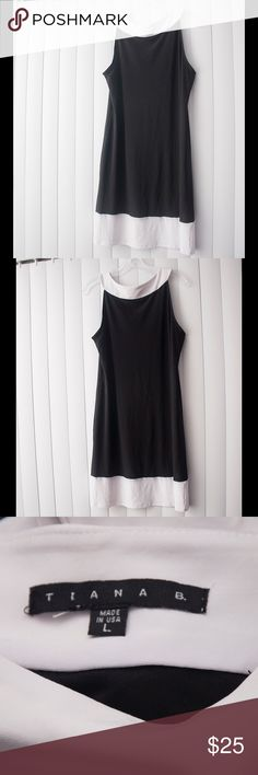 Black and White Dress Cute dress with a mod like style by the brand Tiana B.          ✅ Excellent Condition.                                                            ✅ Open to reasonable offers.                                                      ✅ My home 🏡 is smoke 💨 free and cat 🐱 free                  ✅ Discount is available when you bundle                              ❌ No Trades. Tiana B Dresses