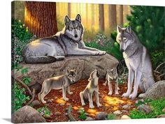 A family of wolves I Wall Art, Canvas Prints, Framed Prints, Wall ...
