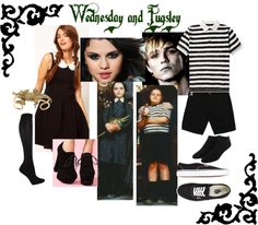 A fashion look from October 2012 featuring skater skirts, knee-high socks and ankle socks. Browse and shop related looks. Adams Family Halloween, Halloween 2014, Halloween Party, Halloween Ideas, Addams Family Costumes, Family Halloween Costumes, Diy Costumes, Costume Ideas, Family Movies
