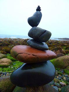 Rock balance Ballymartin Co Down coast ~ David Smith