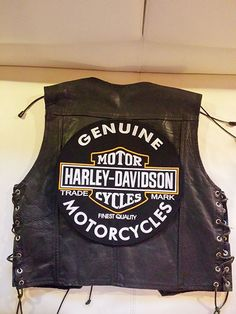 Harley Davidson Backpatch  Genuine Motorcycles Oil XL 32,6cm Nur 3 Tage-NEU