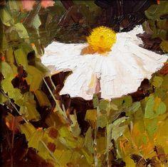 Poppy Study #2 poppy oil painting by Robin Weiss Original art painting by Robin Weiss - DailyPainters.com