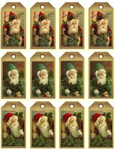 papers.quenalbertini: Free Printable Vintage Santa Tags