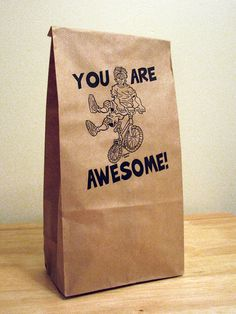5 You Are Awesome featuring a BMX rider paper bagskids by sammo, $3.49