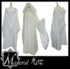 Beautiful White Faux Fur Cloak with Sleeves Ideal by MedievalHoz, £69.99