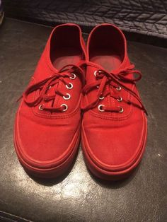 319dc061c7 red with red soles vans size 5  fashion  clothing  shoes  accessories