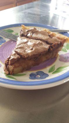 This was okay...  http://dineanddish.net/2015/01/caramel-custard-pie-chocolate-meringue/