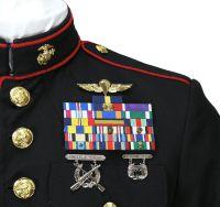 Shades of blue dress usmc - Fashion dresses news Dress Blues Marines, Marine Corps Dress Blues, Marine Corps Uniforms, Us Marine Corps, Military Uniforms, Uniform Dress, Army Uniform, Once A Marine, Blue And White Dress