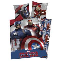"""Set letto reversibile """"Captain America vs. Iron Man"""" di #CaptainAmerica Civil War."""
