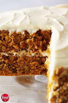 Anna Olson's Carrot Cake with Cream Chee. - Moist and creamy, this carrot cake is a light, refreshing dessert for almost any occasion. Kid Desserts, Easter Desserts, Easter Recipes, Dessert Recipes, Cupcakes, Cupcake Cakes, Food Network Recipes, Carrot Cake Recipe Food Network, Carrot Cake Recipes