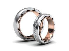 Dnes vám představím nové snubní prsteny, které chystám pro novou kolekci na mé stránky. Snubní prsteny jsou vyrobeny v kombinaci bílého a žlutého zlata. Dámský prsten osazen po obvodu kameny.