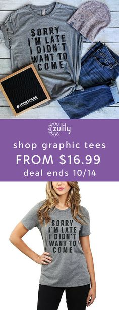"Sign up to shop cute and funny graphic tees, starting at $16.99. Thread Tank's design-focused apparel is all about telling ""stories you can wear."" Featuring their Roots collection, which allows you to celebrate your home state, these soft casual statements bring effortless cool to your daily looks. Deal ends 10/14."