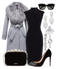 """""""Date Night"""" by Sentaler, Karen Millen, Christian Louboutin, Miu Miu, Chanel just the jacket Karen Millen, Mode Outfits, Fall Outfits, Outfit Winter, Skirt Outfits, Summer Outfits, Classy Outfits, Stylish Outfits, Classy Dress"""