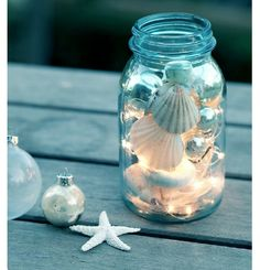 Seashore fairy lights