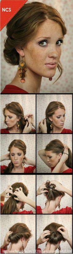 Una manera sencilla de hacerte un peinado elegante muy adhoc de los 50´s