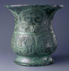 Chinese, Western Zhou dynasty, B. Wine vessel (zun), late century B. Stone Age Art, Zhou Dynasty, China Art, Chinese Ceramics, Ancient China, Chinese Antiques, Chinese Culture, Ancient Artifacts, Bronze Age