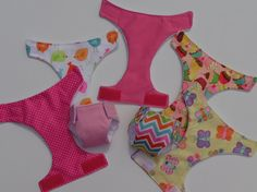 2 LARGE Reusable Waterproof Diapers for Baby Alive