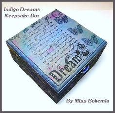 Butterflies Indigo Dreams Keepsake Box Jewelry Box by missbohemia, £12.50