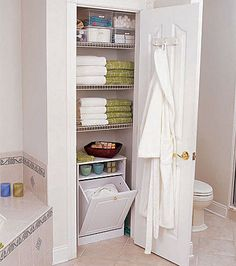 Hallway linen closet design ideas outstanding tips for a better inside cabinet modern home decorating bathroom . amazing bathroom with walk in closet ideas Bathroom Linen Cabinet, Bathroom Closet, Bathroom Storage, Bathroom Ideas, Organized Bathroom, Bathrooms Decor, Bathroom Small, Modern Bathrooms, Design Bathroom