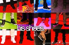 I love all of his shoes!!!!give them to me plz lol (: