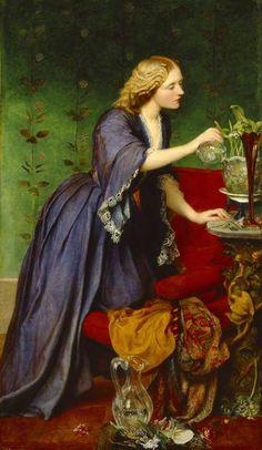The Athenaeum - WATTS, George Frederic English Pre-Raphaelite-Symbolist (1817-1904)_ane 'Jeanie' Elizabeth Hughes- 1857-1858