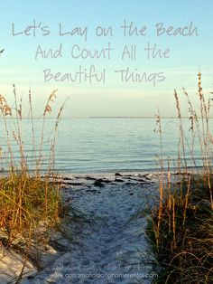 Let's Lay on the Beach and Count All the Beautiful Things www.annamariaislandhomerental.com www.facebook.com/AnnaMariaIslandBeachLife