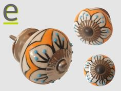Pomello per mobili in ceramica decorata a mano. Diametro 35 mm ...