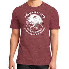 IT CHAOS IN MY HEAD District T-Shirt (on man)