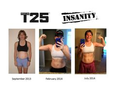 My transformation with T25 and Insanity!