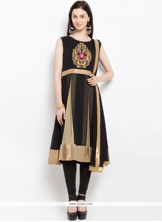 Lovely Embroidered Work Faux Georgette Readymade Suit Model: YOS9388