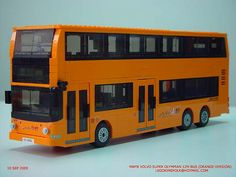 Hong Kong NWFB Volvo Super Olympian 12m air-con bus (Orange)