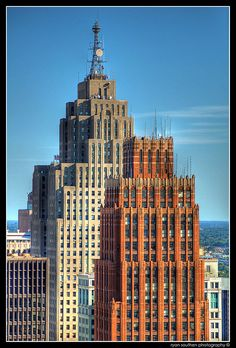 Penobscot Building (Left) & David Stott Building (Right), Detroit, MI, Photo by Ryan Southen