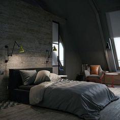 Man Bedroom Decorating Ideas Industrial Design