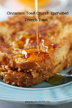 Recipe For Cinnamon Toast Crunch Encrusted French Toast - This french toast was so good! Sweet, crunchy and cinnamony on the outside…warm and smooth on the inside.